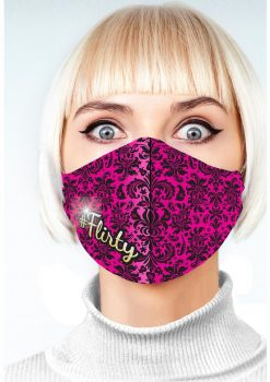 Super Sexy #Flirty Mask - Fuchsia/Black