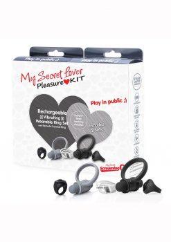 My Secret Lover Kit 2020 Cock Ring - Black/Gray