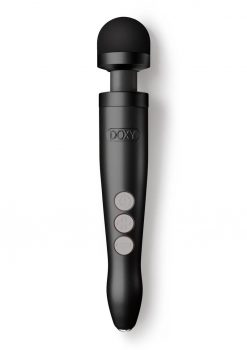DOXY Die Cast 3R Rechargeable Vibrating Body Wand Massager - Matte Black