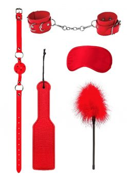 Ouch! Kits Introductory Bondage Kit #4 (5 pieces) - Red