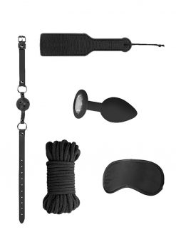 Ouch! Kits Introductory Bondage Kit #5 4pc - Black