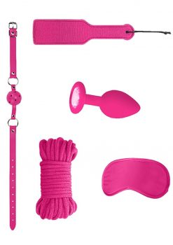 Ouch! Kits Introductory Bondage Kit #5 4pc - Pink