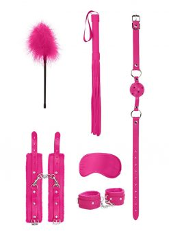 Ouch! Kits Beginners Bondage Kit 6pc - Pink