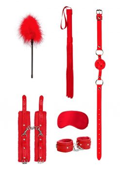 Ouch! Kits Beginners Bondage Kit 6pc - Red
