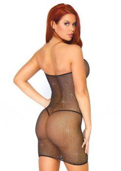 Leg Avenue Crystalized Fishnet Convertible Tube Dress - O/S - Black