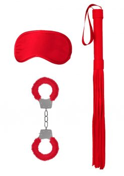 Ouch! Kits Introductory Bondage Kit #1 3pc - Red