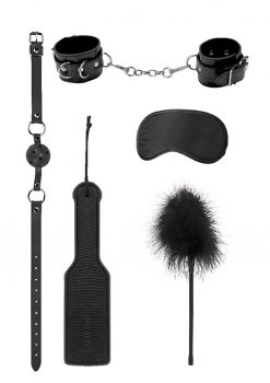 Ouch! Kits Introductory Bondage Kit #4 5pc - Black