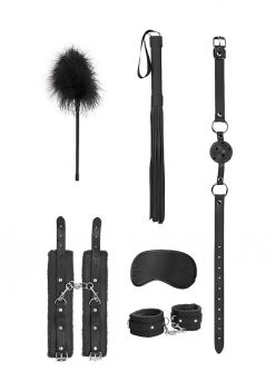 Ouch! Kits Beginners Bondage Kit 6pc - Black