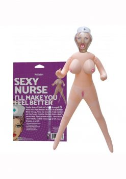 Sexy Nurse Blow Up Doll 5.2 ft - Vanilla