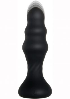 Backdoor Banger Silicone Rechargeable Anal Vibrator With Remote Control - Black