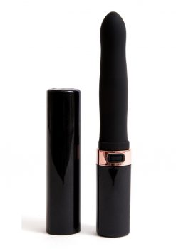 Sensuelle Cache 20 Function Silicone Rechargeable Covered Vibe - Black