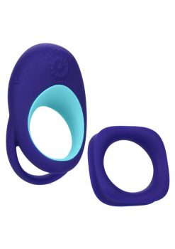 Link Up Alpha Silicone Rechargeable Ring - Purple/Blue