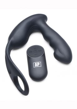 Alpha Pro 7X P-Strap Milker Silicone Rechargeable Vibrating Prostate Plug With Milking Bead