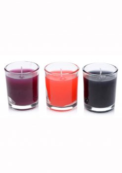 Master Series Flame Drippers Drip Candle Set - Red/Black