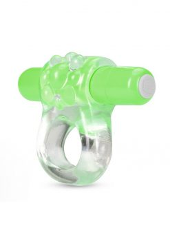 Play With Me Teaser Vibrating Cock Ring - Green