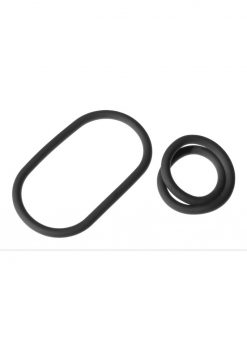 The Xplay Silicone Thin Wrap Ring 9in (2 Pack) - Black