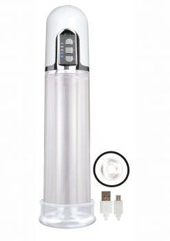 Electric Pump Rechargeable Penis Pump - Clear