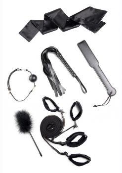 Strict Bed Bondage Restraint Kit (Set of 6) - Black