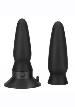 Eclipse Interchangeable Rechargeable Silicone Probe With Remote Control - Black