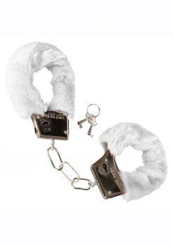 Playful Furry Cuffs - White